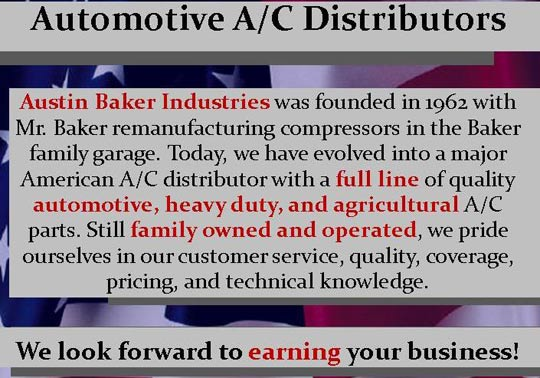 Austin Baker A/C Automotive A/C Distributors